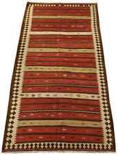 Antiker Azarbaijan Kelim, Nomaden Teppich 144 x 288 cm west Persien Handgewebt,