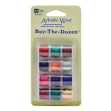 Artistic Wire BUY THE DOZEN 12 pck coloured wire 22g St