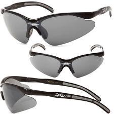 Hot XLoop Men UV400 Sunglasses - Shiny Black/Black - X12
