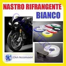 NASTRO BIANCO ! STRISCIA ADESIVA RIFLETTENTE RIFRANGENTE PER CERCHI MOTO SCOOTER