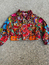 limited edition Rare oilily girls 2T velvet jacket amazing pattern