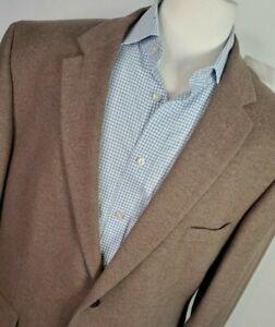 NEW Jos A Bank Men 48R Tan Oatmeal Wool Silk Duel Vent Sport Coat Blazer