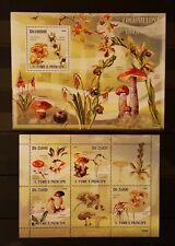 73.Briefmarken Pilze S.Tome & Principe Bl.+Kb.,postfrisch