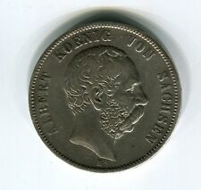 5 Mark Sachsen Albert 1876 (J.122) in s-ss (M4855)