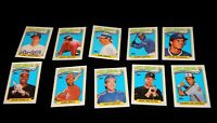 Vintage Baseball Cards,LOT OF 10 1989 TOPPS,Set,All Star Players,National League