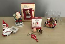 Vintage Christmas Ornaments, Hallmark, Elf on Shelf, Campbell's Soups, Lot of 4