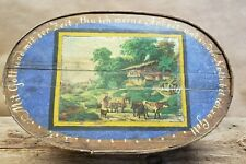 """Beautiful Vintage Antique 1890's German Hand Painted Wooden Box Large 20"""""""