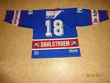 """Adler Mannheim Starter camiseta 97/98 """"boehringer mannheim"""" + nº 18 dahström talla XL"""