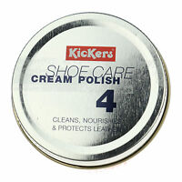 KICKERS White Leather Cleaner Polish Cream  Shoes Boots Purse Handbag Care