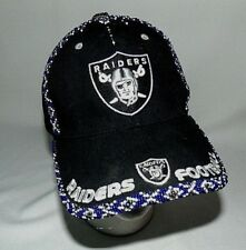 Oakland Raiders Cap Custom Beaded XO One of a Kind Womens or Childs Size