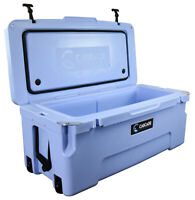 CASCADE COOLERS ICE BLUE 75L 75 LITERS PRO SERIES ROTOMOLD ICE CHEST COOLER