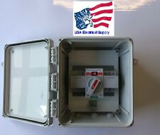 Dual Power Automatic Transfer Switch UL Enclosure, 3 Phase, 120/240 VAC, 63 amp.