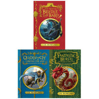 J.K.Rowling Collection 3 Books Set Tales of Beedle the Bard Fantastic Beasts New