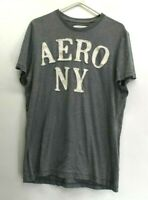 Aeropostale Men's XL Aero NY Lettering Patched Summer Short Sleeve T-Shirt Gray