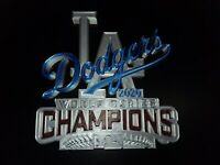 """LA DODGERS WORLD SERIES CHAMPS SIGN MLB [SILVER EDITION]-3D printed 8""""×8""""×1.25"""""""