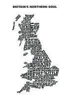 Northern Soul Print, Wigan Casino, Britain's Northern Soul; Northern Soul Map