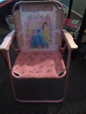 Disney Princess Princesses Toddler Folding Patio Chair.  Sturdy With Locks