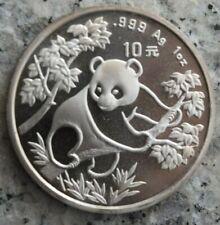 10 Yuan 1992 Silbermünze China 1 Silber-Unze - Panda - selten !