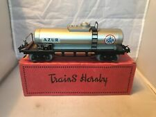 FRENCH HORNBY / MECCANO O GAUGE TINPLATE SNCF DOUBLE BOGIE AZUR BULK TANKER BOX