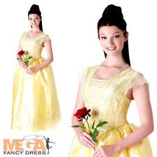 Belle Ladies Fancy Dress Beauty and the Beast Disney Princess Adults Costume