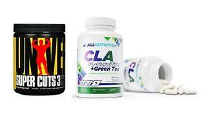 CLA + L-Carnitine + Green Tea 120 kaps + Animal Super Cuts 3 130tab / Fettabbau