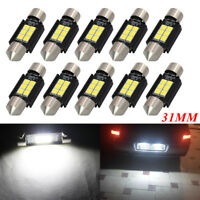 10x 31MM LED Festoon C5W Canbus 3030 6SMD Car Interior White Dome Map Light Bulb