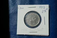 A-204 1973 Canada 25 Cents quarter Queen Elizabeth II RCMP Centennial Mountie