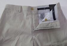 Callaway GOLF Flat Front Shorts 100% Cotton White Tan Black $70 Shirt Grip  NWT