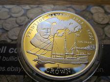 Isle of Man 1 crown silver proof 1997 Fridtjof Nansen - Ships & Explorers