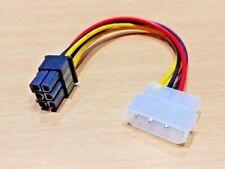 4-Pin Mâle Molex to 6-Pin Female Socket Câble d'alimentation pour PCIe PCI Express Adaptateur