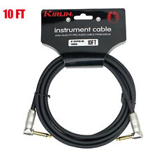 NEW Kirlin 10 FT Cable Right-Angle Electric Patch Cord Guitar +Free Cable Tie