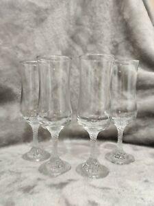 4 Vintage Dema International Piazza Fluted Champagne Glasses in Original Box