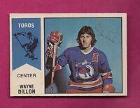 RARE 1974-75 OPC WHA # 3 TOROS WAYNE DILLON  ROOKIE EX-MT CARD (INV# 7820)