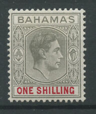 Bahamas SG155 1938 1s Grey-black and carmine (thick paper) Mounted mint