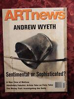 ART NEWS Magazine October 2005 Andrew Wyeth Thornton Dial