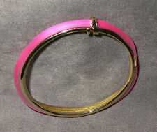 NWT Alexis Bittar Lucite Stacked Bangle Bracelet in Neon Pink