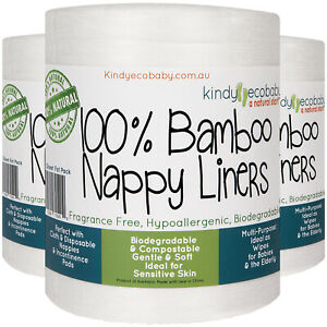 Bamboo Disposable Nappy Liners for Cloth Nappy/Diapers, Disposable,Safe, Natural