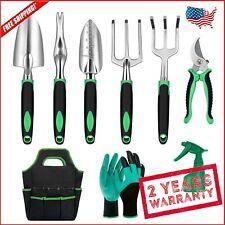 Aluminum Heavy Duty Gardening Tools Garden Gloves & Organizer Tote Bag