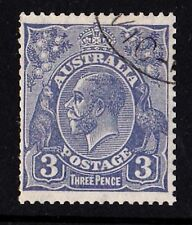 Australia 1932 King George V 3d Blue C of A Watermark CTO