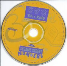 vintage software Cd - Sesame Street Numbers (Kids fun learn early math skill)