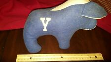 Vintage Yale University Bulldog Stuffed Animal Blue And White Look!