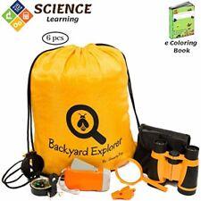 Explorer Kit : Kid Binoculars, Backpack, Magnifying Glass, Flashlight