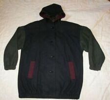 Vintage Karizma Wool Blend Hoodie Coat - Size 14