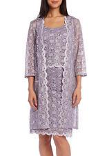 Womens R&M Richards Long Jacket Orchid Lace Dress Scalloped Hem Plus Size 22W