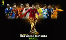 "2014 USA Brazil world club Soccer team football Fabric poster 21"" x 13"" Decor 02"