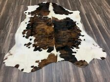 New Brazilian tricolor    Cowhide  rug Size 71x67  Inches Au-4060