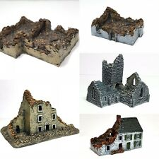 6mm wargame buildings. 5 - Piece Ruins Set - 6mm Wargaming - Wargame Scenery