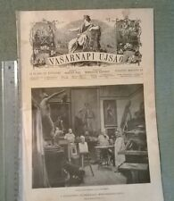 1910 Stróbl Alajos VASARNAPI UJSAG magazine Hungary Arany János Bezerédj Pál