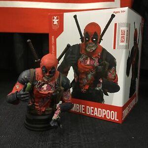 Gentle Giant Marvel Deadpool Zombie Mini-Bust San Diego Comic-Con 2020