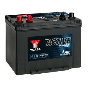 Batterie décharge lente Yuasa M26-80 Marine 12v 80ah